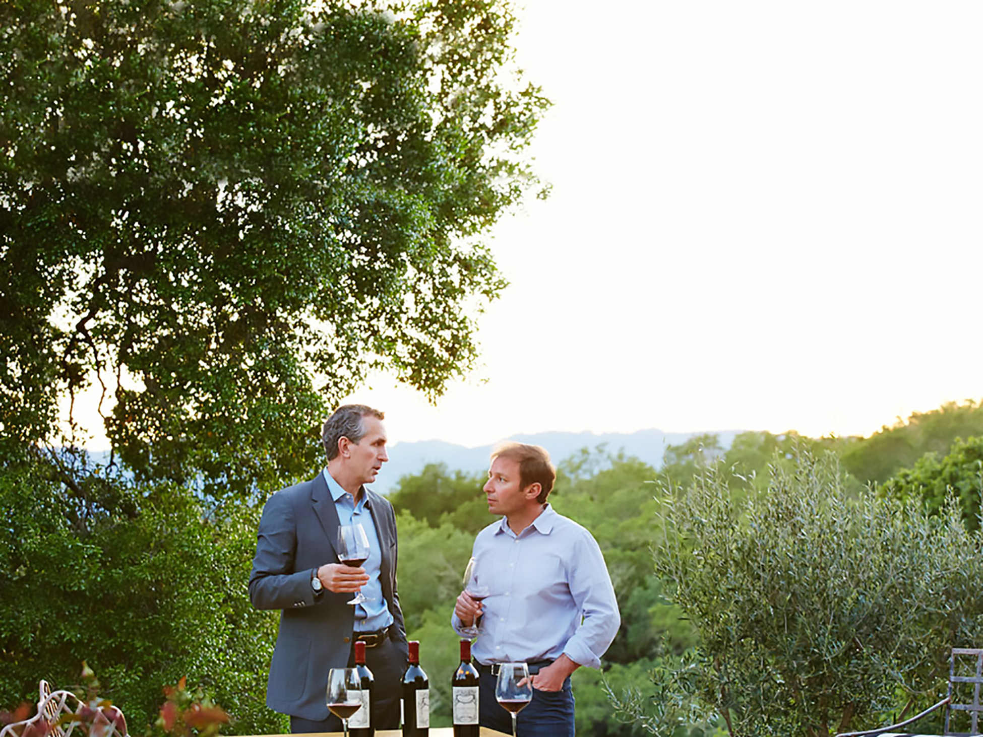 Fairchild Winery owner, Lawrence D. Fairchild with winemaker Philippe Melka