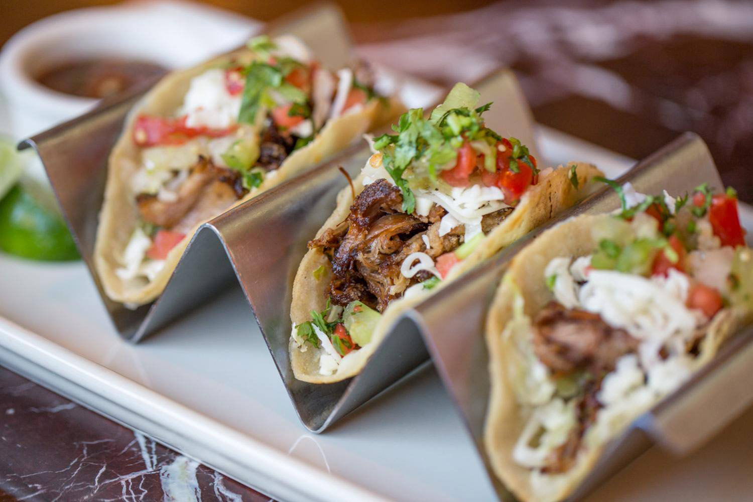 Asian Short Rib Tacos Grand Lux Cafe